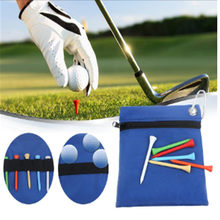 Hot Sale Ritsleting Golf Tee Bola Tas Nylon Tas Penyimpanan Pemegang dengan Carabiner Golf Aksesoris(China)