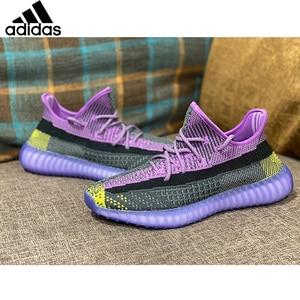 Женские кроссовки Adidas Originals Yeezy Boost 350 V2, статические черные кроссовки унисекс Yecheil Angel, мужские кроссовки для бега