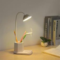 Lampa biurkowa LED z portem USB  akumulator dotykowy ściemniająca lampa stołowa z obsadka do pióra dla dzieci pokój dziecięcy  led lampka nocna