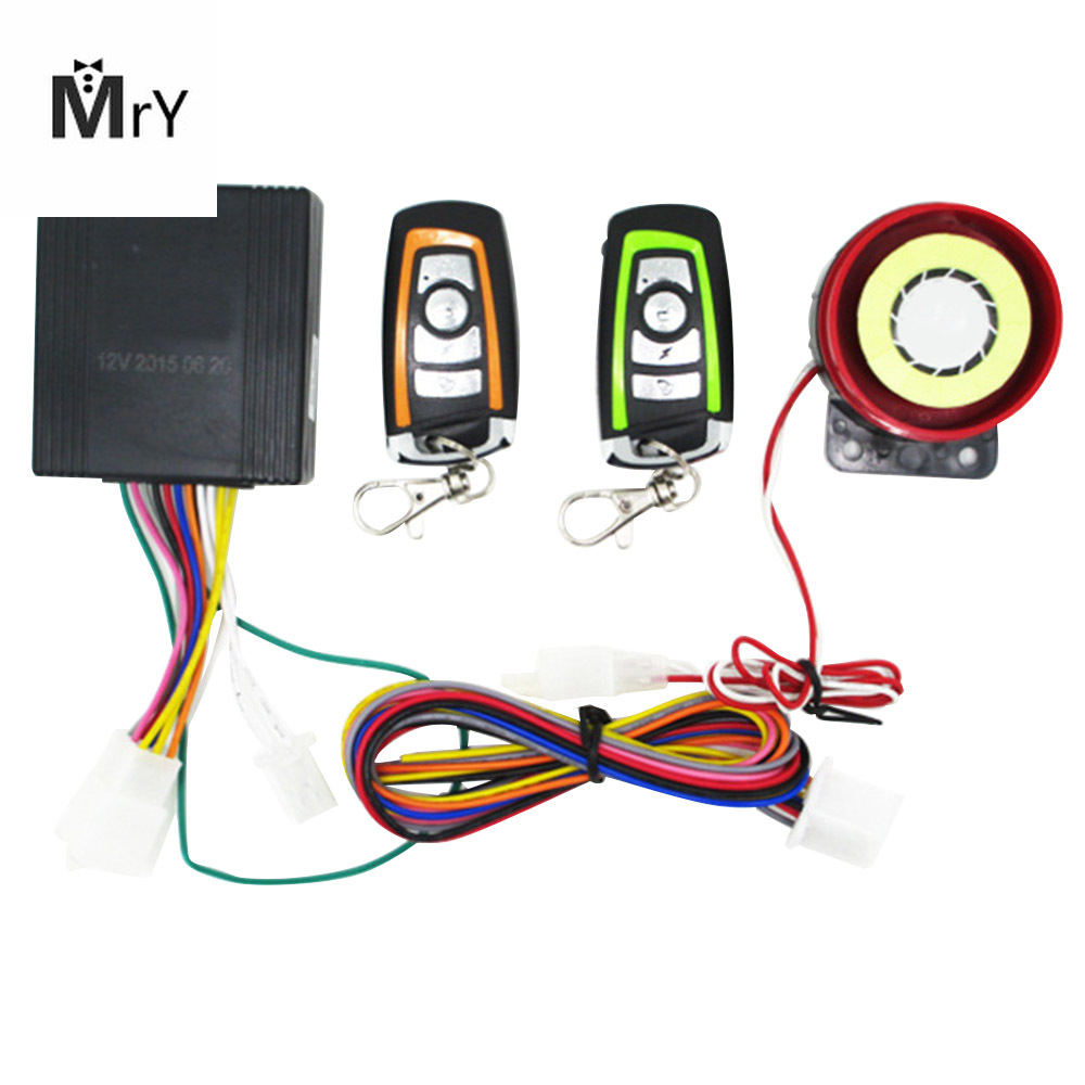 Universal Two-way Motorcycle Alarm System Scooter Anti-theft Security Alarm System With Engine Start Remote Control Key Fob