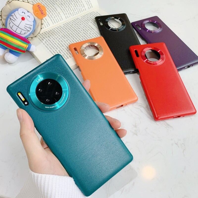 Для Huawei Mate 30 Pro чехол Роскошный текстурный чехол для телефона для Huawei Mate 30 тонкий противоударный чехол для задней панели Mate30 Mate 30Pro жесткий че...