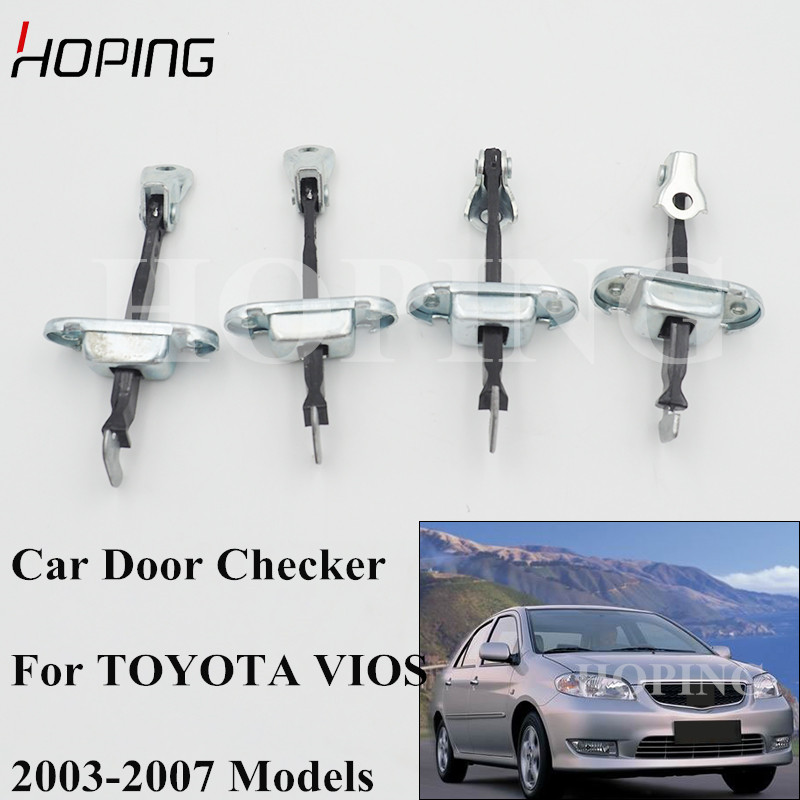 Hoping Front Rear Auto Door Checker For TOYOTA VIOS 2003 2004 2005 2006 2007 Left Right Strap Door Hinge Stop Limiter|Door Hinge Conversion Kits| |  - title=
