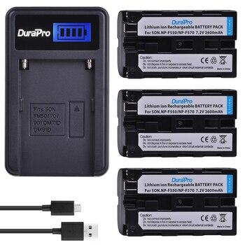 Sony Np F330   3PC 2600mAH NP-F550 NP-F570 NP F550 Kamera Batterie + LCD USB Ladegerät Für Sony NP-F330 NP-F530 NP-F570 NP-F730 NP-F750 CCD-RV100