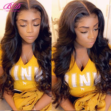 Body Wave Lace Front Human Hair Wigs 130% 150% 180% Brazilian Remy Hair 13X6