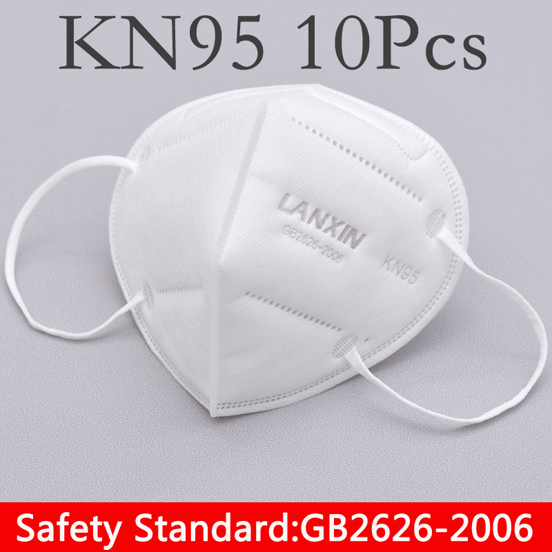 10pc/Bag Maternity N95 Mask Unisex Mask Filter Anti Dust Mask Pollution Mask Cotton Mouth Mask Anti-fog Respirator Reusable Mask