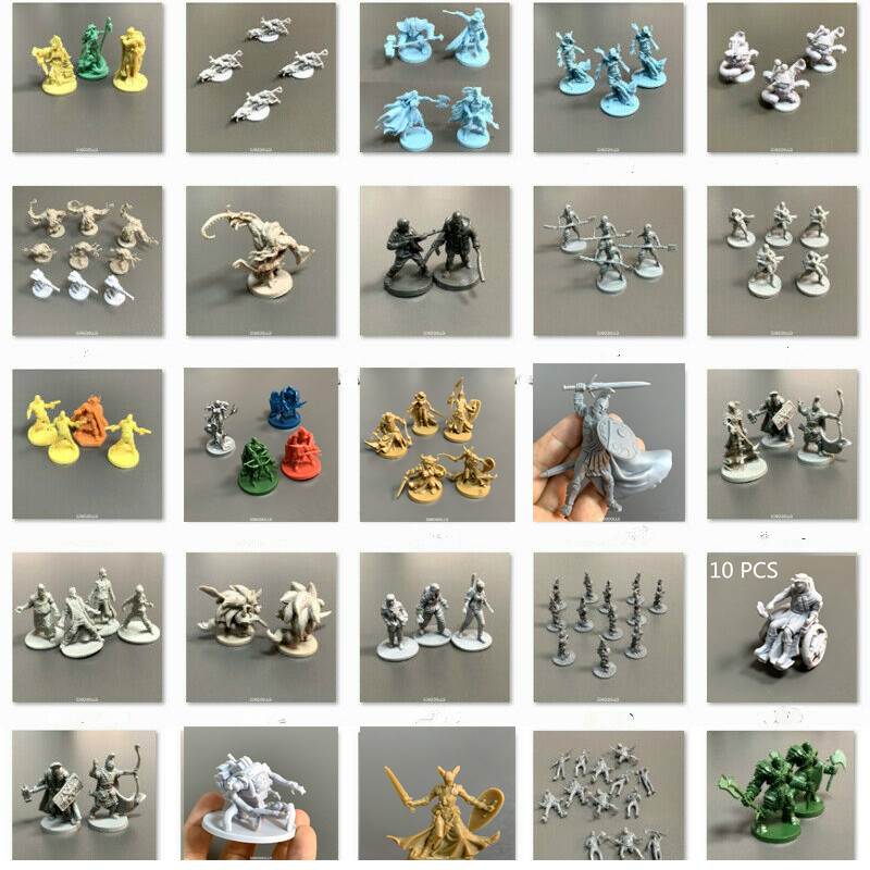Lot D & D Board Games Miniatures DND Model Wars Game Role Playing Figures Toys Collection