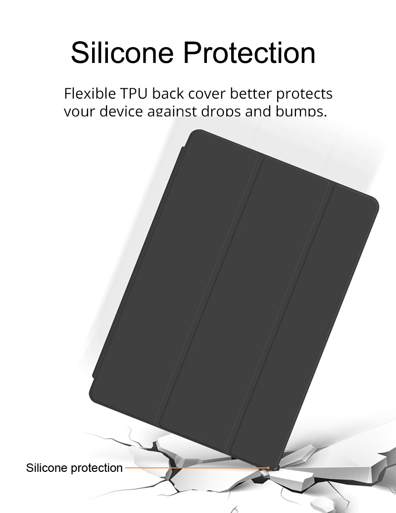 Silicone Cover Case For iPad 10 2 Case For iPad 8th 7th Generation Cover For Model