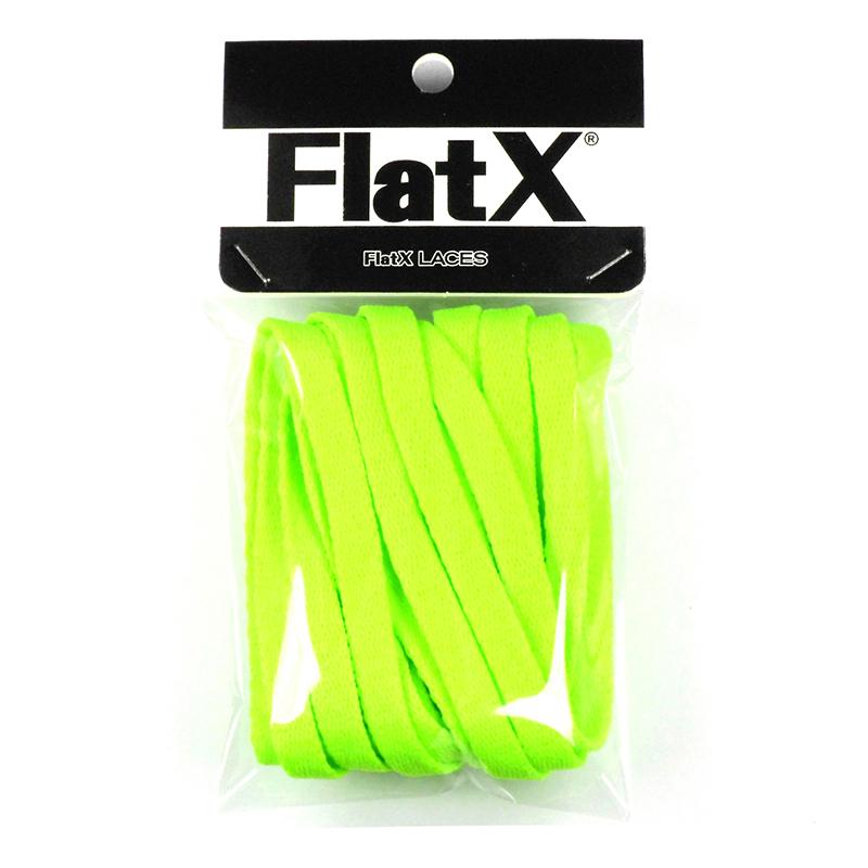FlatX 8mm Neon Green Shoelaces High Quality Professional Sneaker Laces Anti-Release Shoelace Lacet  Branded Lace Wholesale