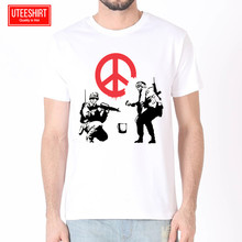 Men Banksy Urban Women Harajuku Short Sleeves T shirt Unisex Skateboard Tshirt Clothes Streewear