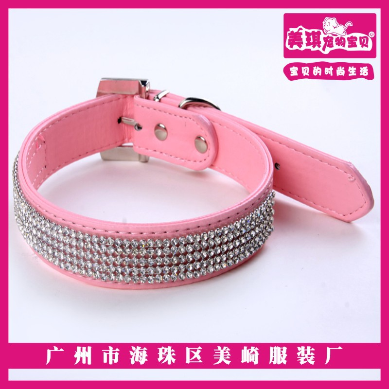 Guangzhou Majestic Pet Dog Collar Rhinestone Small Dog Collar Multi-color Selectable