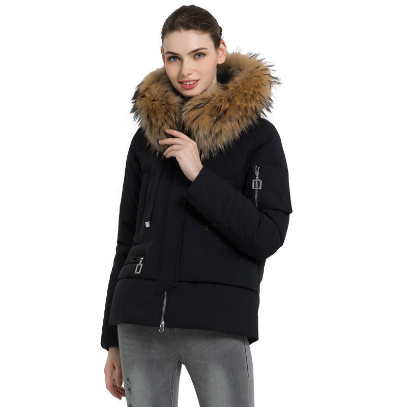ICEbear 2019 New Winter Fur Collar Women's Jacket High Quality Warm Coat Stylish Woman Parkas Brand Apparel GWD19062I icebear 2018 new autumn women cotton padded high quality thermal short paragraph slim women s jacket fall woman jacket gwc18126d