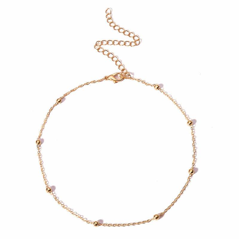 Sederhana BoHo Rantai Perak Emas Bintang Kalung Wanita Layerd Gumpal Kalung untuk Wanita Collier Collares Kalung