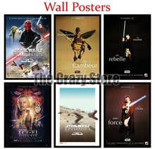 Star Wars Episode I The Phantom Menace Film White Kraft Paper Poster Home Decor Painting classic prints 42X30cm