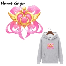 Homegaga cartoon sailor moon heat press stickers iron on patch Handmade patches on jacket t shirt thermal transfer D1763_1 blinghero cartoon thermal patches cute iron on patch stickers t shirt jacket heat transfer patches diy pacth bh0350