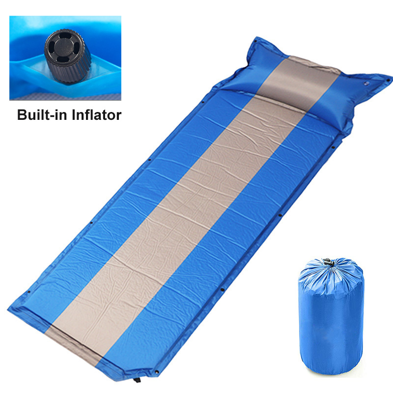 Rooxin Self Inflatable Sleeping Pad Camping Tent Mattress Air Bed Waterproof Thicken Sleeping Mat For Backpacking Travel Hiking