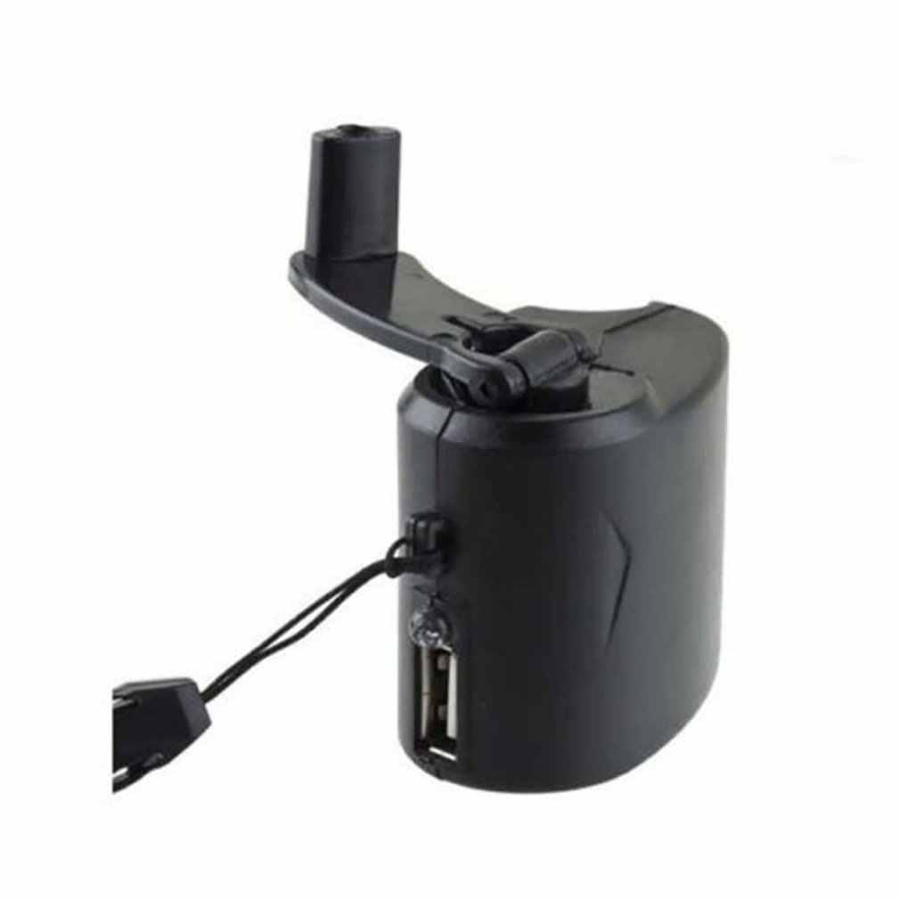 اليد لف شاحن الطوارئ USB كرنك اليد دليل دينامو ل MP3 MP4 شاحن جوّال USB المساعد الشخصي الرقمي خلية باور ربنك لشحن الهاتف في حالات الطوارئ