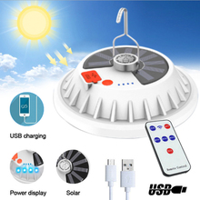 Солнечная энергия кемпинг лампочка лампа фонарь фонарик пульт управление супер яркий солнечный USB зарядка лампочка палатка лампа светодиод аварийный лампа