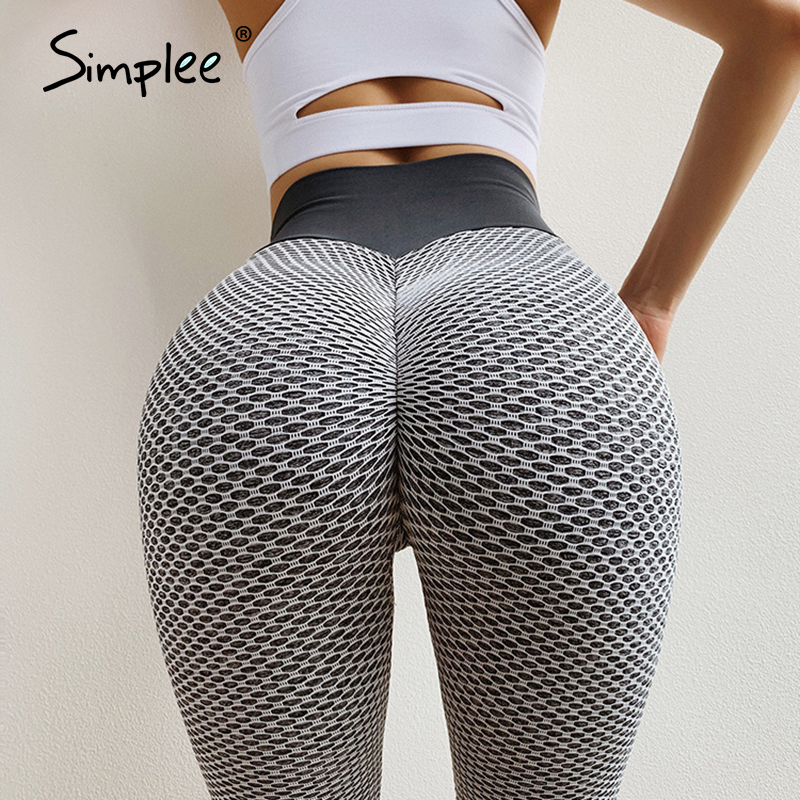 Simplee Sexy Women Fitness Legging Mujer Push Up High Waist Tummy Control Leggins Activewear Gym Seamless Leggings Feminina 2020