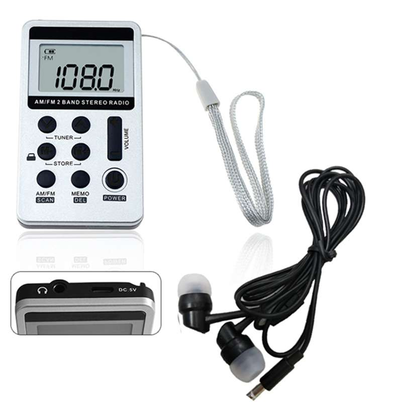 1 шт. Портативный DC 5V Мини карманный двухдиапазонный радио FM/AM цифровой приемник с наушником USB кабель Радиоприёмники      АлиЭкспресс