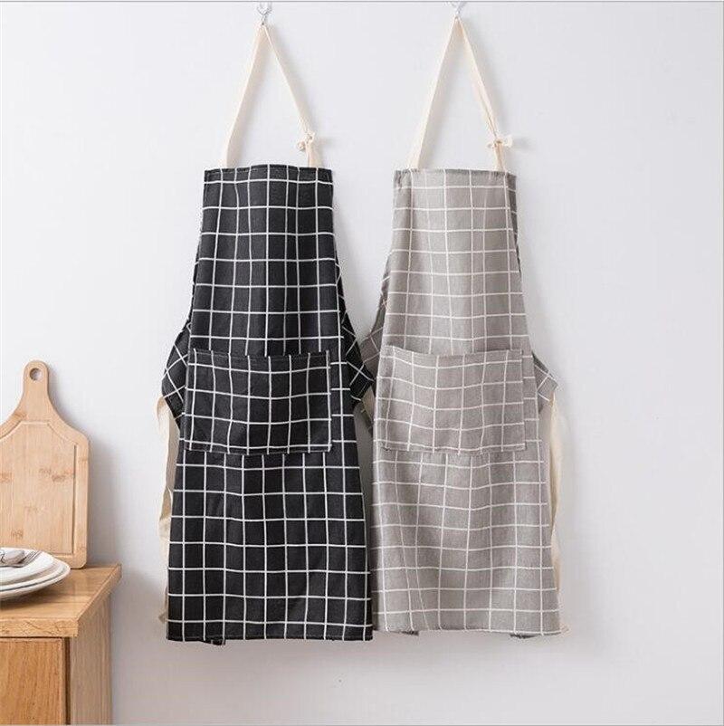 2019 New Hot Fashion Lady Women Men Adjustable Cotton Linen High-grade Kitchen Apron For Cooking Baking Restaurant