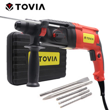 TOVIA 220V Electric Rotary Hammer SDS Plus Drill Chuck AC Electric Hammer Drill Variable Speed Safety Clutch electric hammer drill redverg rd rh650 no load speed 1200 rpm 5500 beats per minute
