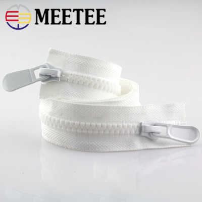 Meetee 8 #15 # пластиковые застежки-молнии открытый конец 70-150 см длинная застежка-молния пуховик пальто двойные ползунки для шитья одежды ремонт портной аксессуар