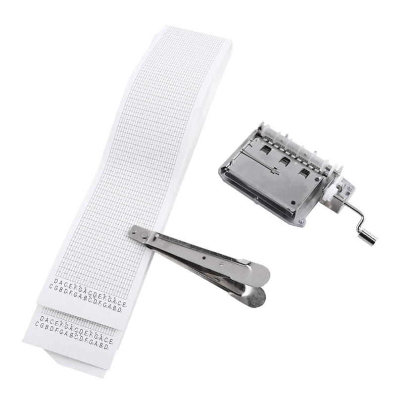 30-Note Tapes Hand Crank Music Mechanical Musical Box With Hole Puncher 3 Strips Tapes Create Your Own Music Diy Music Box