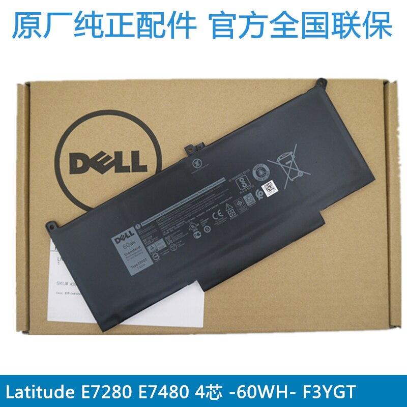 Dell Original Laptop Battery For Dell Latitude E7280 E7290 E7380 E7390 E7480 E7490 60wh 7500mah F3YGT