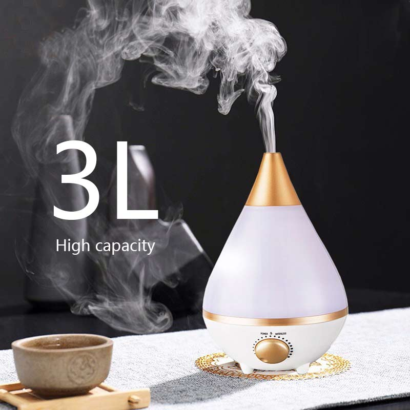 Household 3L Large Capacity Humidifier Desktop Silent Aromatherapy Humidifier Night Light Ultrasonic Nebulizer UAB Air Purifier