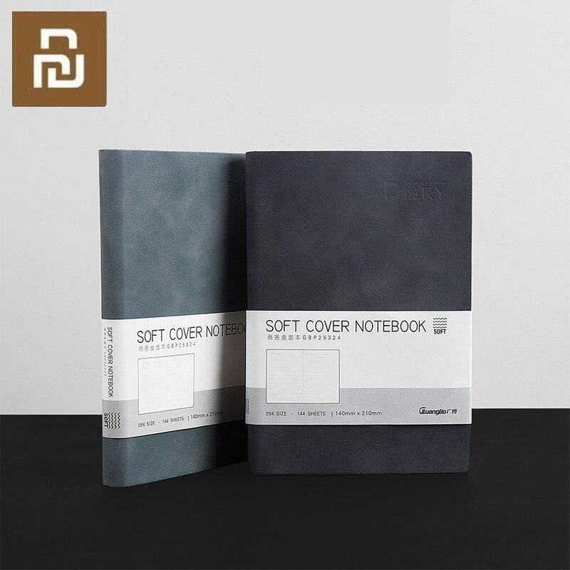 youpin guangbo negocios caderno de couro macio aparencia portatil escritorio viagem estudante notebook