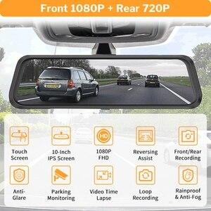 Image 2 - Deelife مرآة مسجل دي في أر داش كام 10 كامل الشاشة HD 1080P سيارة كاميرا مرآة الرؤية الخلفية مع الرؤية الخلفية مسجل الفيديو