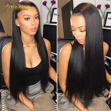 Nadula Hair mechones de cabello liso brasileño con Frontal, extensiones de cabello humano mechones Remy de 8 30 pulgadas con cierre, 13*4