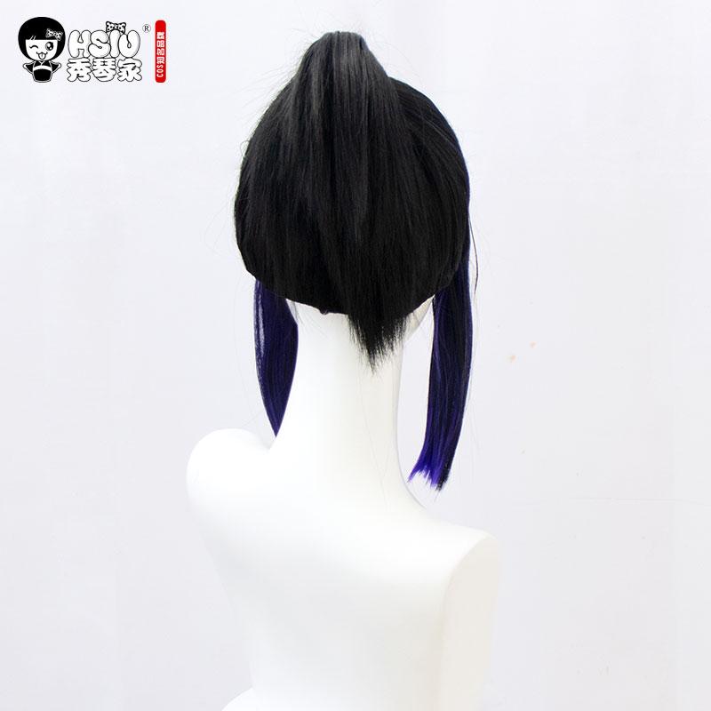 Image 4 - HSIU Kochou Shinobu Аниме Косплей Костюм парик Demon Slayer: Kimetsu no Yaiba кимоно униформа плащ Хэллоуин градиент волос парик.Костюмы для девочек    АлиЭкспресс