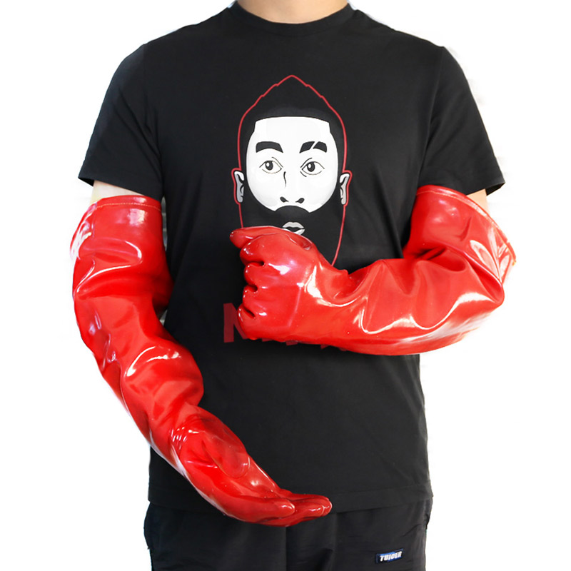 PVC Waterproof High Temperature Resistant Gloves Heat-proof Steam Insulated Gloves 60cm Length Anti-scalding Safety Glove