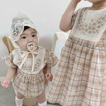 2020 Summer Baby Clothing Big Sister And Little Sisiter Clothes Infant Girls Bodysuits