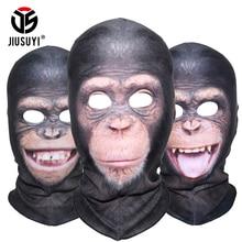 3D Animal Orangutan Chimpanzee Ferocious Funny Balaclava Beanies Thermal Wool Fleece Winter Warmer Full Face Mask Cover Cap