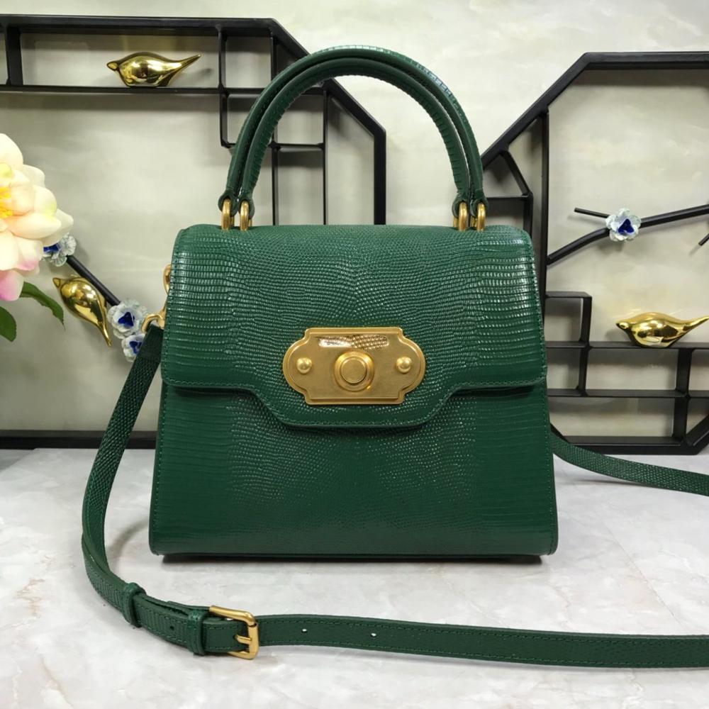 Luxury Designer Crocodile Alligator Female Messenger Bag Genuine Leather Snake Skin Bag Small Flap Fashion Women Crossbody Bag