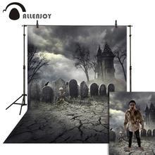 Allenjoy photo background Halloween Grave Skeleton castle tree dark Photostudio Backgrounds for photographing photography