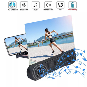 12 Inch Mobile Phone 3D Screen Video Magnifier Curved Enlarged HD Movie Amplifying Projector Folding Stand Bracket With Speaker