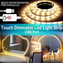 USB Led Strip Vanity Makeup Mirror Light 5V LED Flexible Tape Cable Powered Dimmable Dressing Table mirror Lamp Decor
