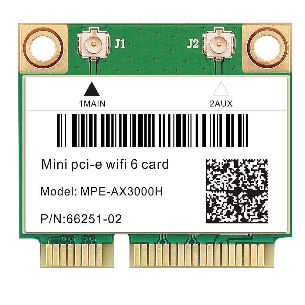 2400Mbps Wifi 6 Wireless Card Bluetooth 5.0 Mini PCI-E Notebook Wlan Card Wi-fi Adapter 802.11ax/ac MU-MIMO OFDMA Windows 10