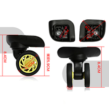 Silent Sliding Practical Axles Replacement Casters Luggage Wheel Travel Suitcase Universal Wheels W208