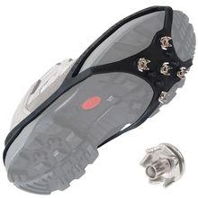 Antypoślizgowe Ice Snow Grip Nails piesze wycieczki chwytaki do ziemi buty do wspinaczki kolce tanie tanio OOTDTY CN (pochodzenie) Sprzęt ściany Stainless Steel Silver Anti-slip Shoe Spikes 1 Set