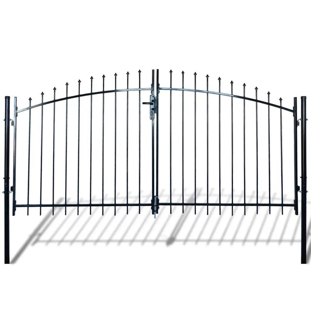 VidaXL Double Door Fence Gate With Spear Top 300 X 175 Cm 141361