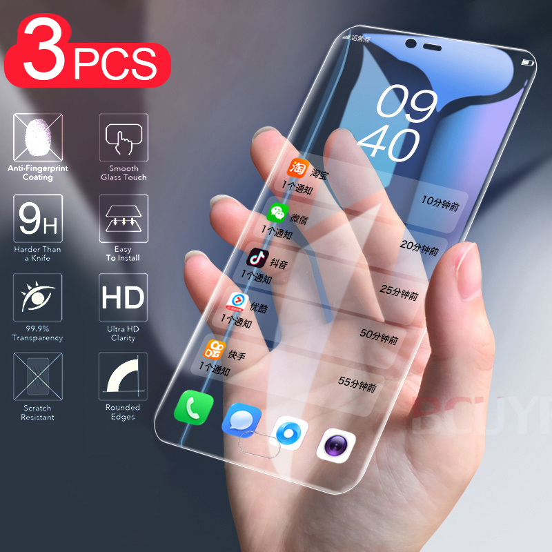 3-1 PCS Premium Tempered Glass  The For Samsung Galaxy J3 J5 J7 2017 Screen Protector For Galaxy J4 J6 Plus 2018 Protective Film