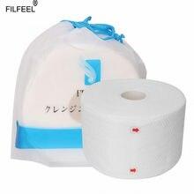 Lingettes jetables en coton pour le visage, lot de 100 pièces, serviettes de toilette douces, produits de soins de la peau, maquillage, tissu de lavage, rouleau de papier