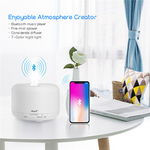 700ml USB Air Humidifier Electric Aroma Diffuser Essential Oil Aromatherapy Cool Mist Maker Colorful Light Bluetooth Music Play(China)