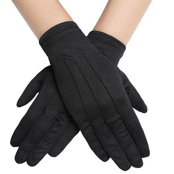 1 Pair Cotton Gloves Khan Cloth Quality Check Gloves Rituals Play Black Gloves 2020 New Hot Selling