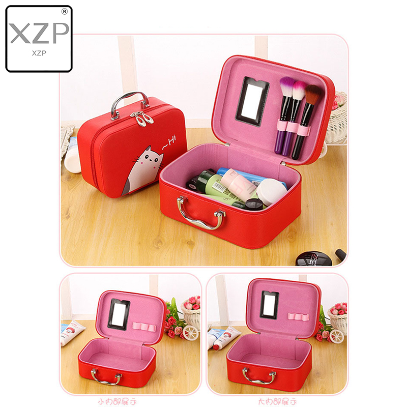 XZP Travel Organizer Big Cosmetic Case Large Capacity Suitcase Fashion Travel Make Up Bags Waterproof Lovely Girls Beauty Box