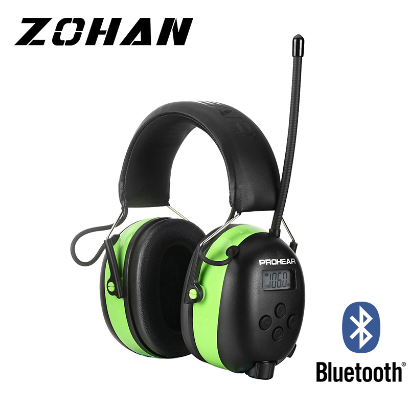 Radio Hearing Protection protective earmuffs AM/FM 5.0 Bluetooth headphone for Shooting Ear Defenders 2000mAh Lithium Battery